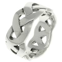 Carolina Glamour Collection Sterling Silver Celtic Weave Knot Band Ring