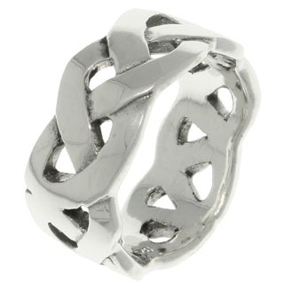 Carolina Glamour Collection Sterling Silver Celtic Weave Knot Band Ring (More options available)