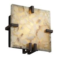 Justice Design Group Alabaster Rocks Clips 1-light Dark Bronze ADA Wall Sconce