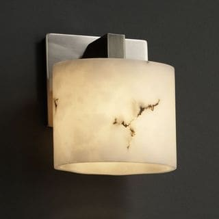 Justice Design Group 1-light Oval Brushed Nickel Wall Sconce