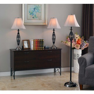 Elijah 3-pack Lamp Set