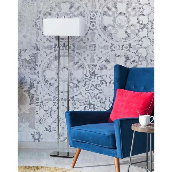 Clay Alder Home Susitna Sturbridge 60-inch Chrome Finish 2-light Floor Lamp