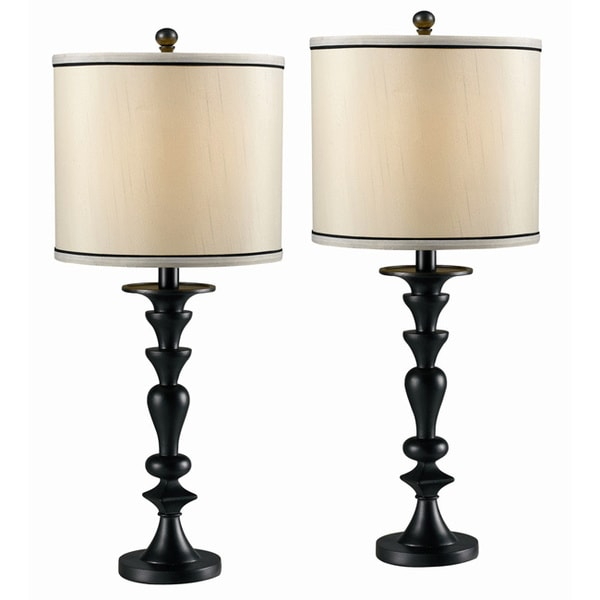frazer graphite table lamps set of 2 free shipping. Black Bedroom Furniture Sets. Home Design Ideas