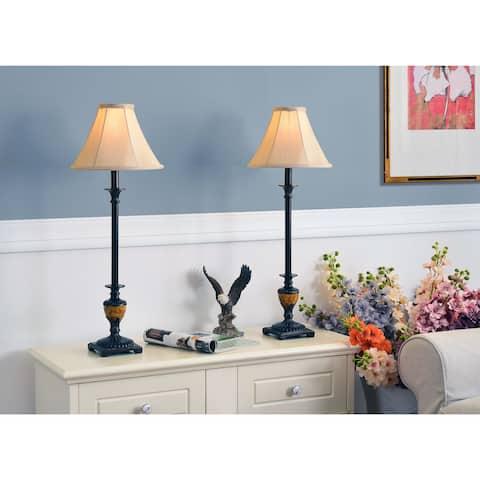 Copper Grove Delta 30-inch Bronze Buffet Lamps (Set of 2)