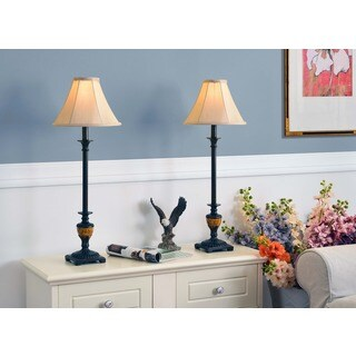 Pine Canopy Delta 30-inch Bronze Buffet Lamps (Set of 2)