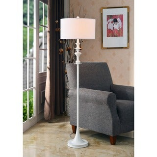 Campeau Gloss White Floor Lamp
