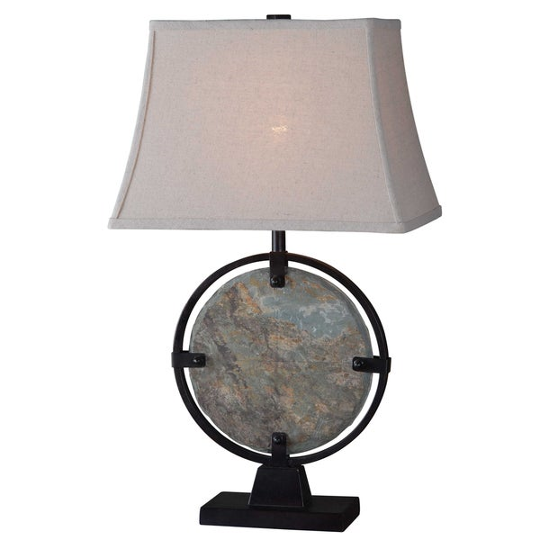 Penfield 28-inch Natural Slate Table Lamp