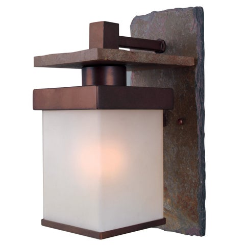 Castellina Natural Slate/ Copper 1-light Medium Wall Lantern - Slate/Copper