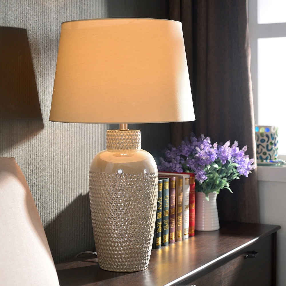 Bindy 28 Inch Iridescent Ceramic Table Lamp Overstock 7896608