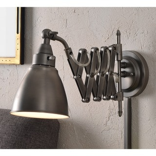 Design Craft Ambrose Antique Nickel Swing Arm Lamp