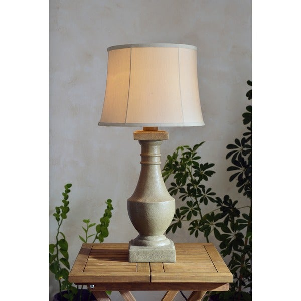 Outdoor Table Lamps For Sale: Shop Fonyo 31-inch High With Coquina Finish And Cream