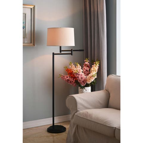 Copper Grove Marston Copper Bronze Swing Arm Floor Lamp