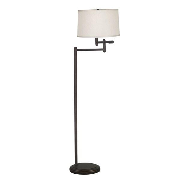 Aldrin Copper Bronze Swing Arm Floor Lamp Free Shipping