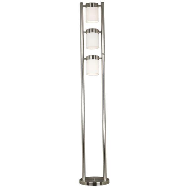 "Design Craft Stelck 66"" 3-Light Floor Lamp - Brushed Steel"