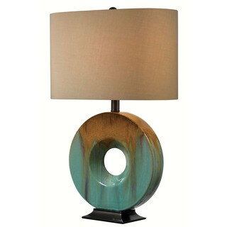 "Design Craft Fenerty 26"" Table Lamp - Teal Ceramic Glaze"