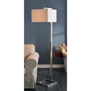 Design Craft Ronson Brushed Steel 64-inch Floor Lamp (As Is Item)