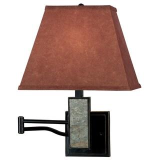 Dobbin Wall Swing Arm Cinimmon Shade Lamp