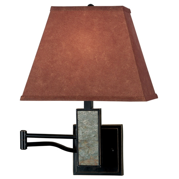 dobbin wall swing arm cinimmon shade lamp free shipping today. Black Bedroom Furniture Sets. Home Design Ideas