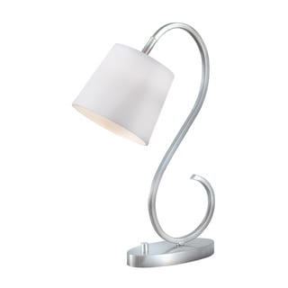 Arbour 21-inch High With Brushed Steel Finish S-curve Desk Lamp