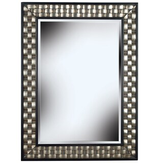 'Asper' Brushed Steel Frame Wall Mirror