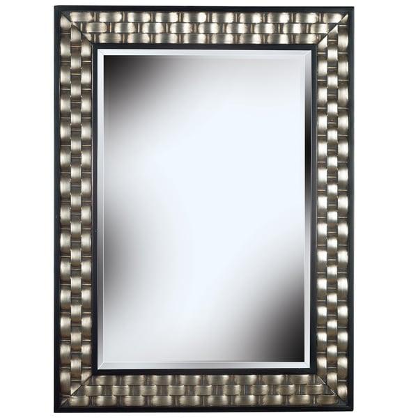 Shop Asper Brushed Steel Frame Wall Mirror Black