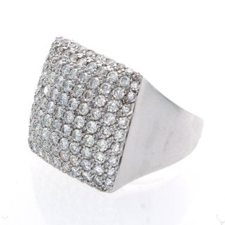 Victoria Kay 18k White Gold 3 7/8ct TDW Pave Diamond Ring