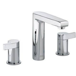 American Standard Studio 8 Inch Widespread Mid Arc Double Handle Polished  Chrome Bathroom