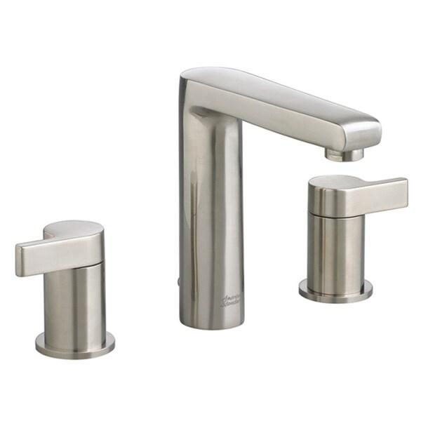 American Standard Studio 8 Inch Widespread Mid Arc Double Handle Satin Nickel Bathroom Faucet