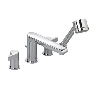 American Standard Studio Deck-mount Roman Tub Double-handle Polished Chrome Bathroom Faucet with Personal Shower