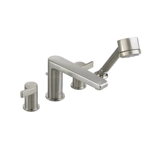 American Standard Studio Deck-mount Roman Tub Double-handle Satin Nickel Bathroom Faucet with Personal Shower