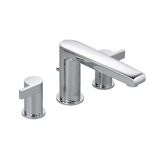 American Standard Studio 2-Handle Deck-Mount Roman Tub Faucet Less Personal Shower in Polished Chrome