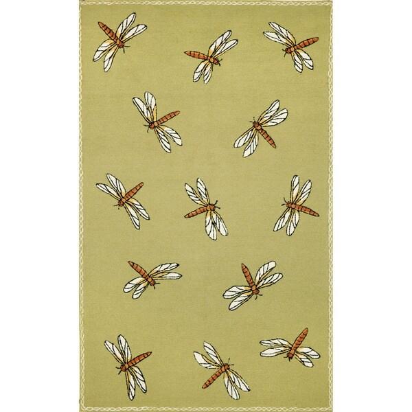 Summer Dragonfly Outdoor Rug (3'5 x 6'5)