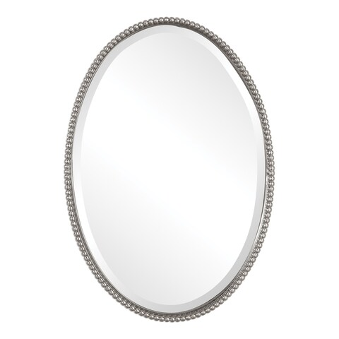 Uttermost Sherise Brushed Nickel Oval Mirror - Brushed Nickel