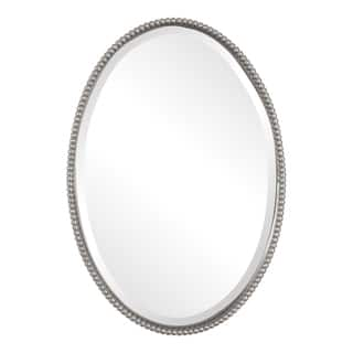 Uttermost Sherise Brushed Nickel Oval Mirror|https://ak1.ostkcdn.com/images/products/7896858/P15277461.jpg?impolicy=medium