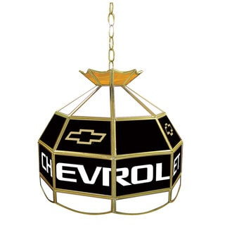 'Chevy' Stained Glass 16-inch Stained Glass Pendant Light