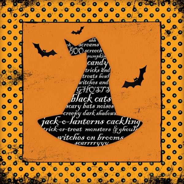 Stephanie Marrott 'Halloween Witch'  Paper Print (Unframed)