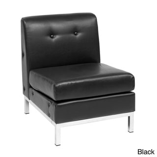 Wall Street Faux Leather Armless Chair