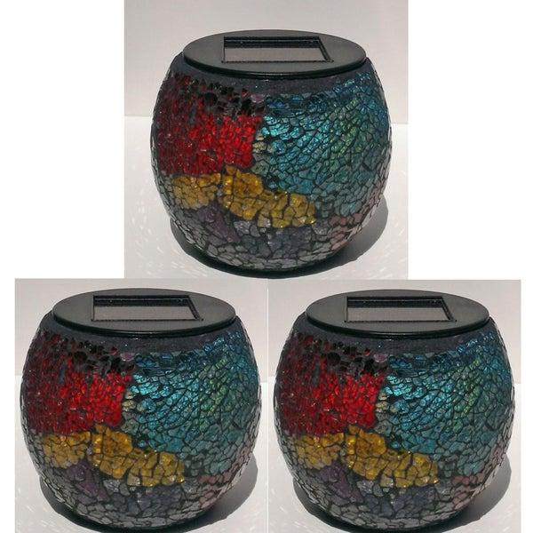 Paradise Solar Powered Mosaic Jars (Pack of 3)