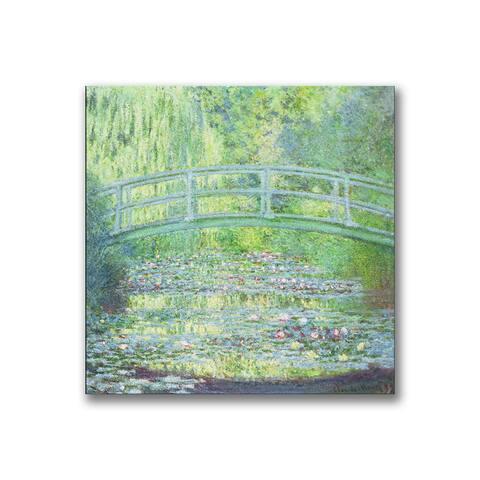 Claude Monet 'Waterlily Pond-The Bridge II' Canvas Art