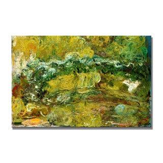 Claude Monet 'The Japanese Bridge, c.1918-24' Canvas Art
