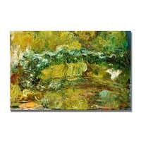 Claude Monet 'The Japanese Bridge, c.1918-24' Canvas Art - Multi