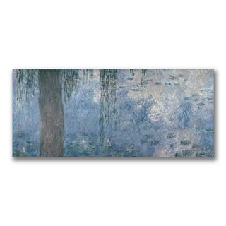 Claude Monet 'Waterlillies Morning II' Canvas Art