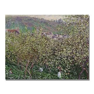 Claude Monet 'Fruit Pickers' Canvas Art