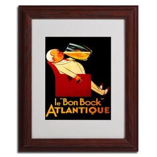 'Bon Bock' Framed Matted Art
