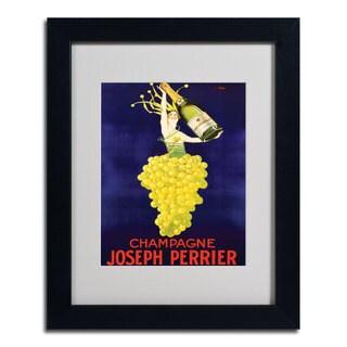 Champagne Joseph Perrier' Framed Matted Giclee Art