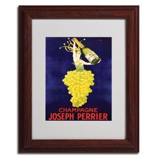 'Champagne Joseph Perrier' Framed Matted Art