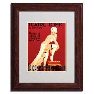 'Teatre Comic de Barcelona' Vintage Framed Matted Art - Multi