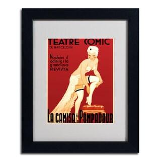 'Teatre Comic de Barcelona' Framed Matted Art