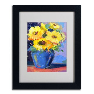 Sheila Golden 'Sunflowers II' Framed Matted Art