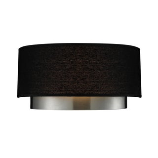Jade Chrome 2-light Black Shade Wall Sconce